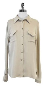 Max Mara Bone Button Down Top