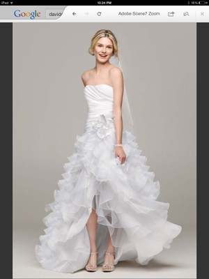 David 39 s bridal high low gown wedding dress tradesy weddings for High low wedding dress davids bridal