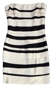 BCBGMAXAZRIA short dress Black Cream Tier Tier on Tradesy