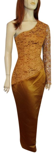 Preload https://item4.tradesy.com/images/iso-designs-vintage-lace-bombshell-deco-dress-toffee-1083268-0-0.jpg?width=400&height=650