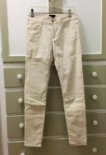 H&M Corduroy Stretchy Skinny Pants Cream Image 1