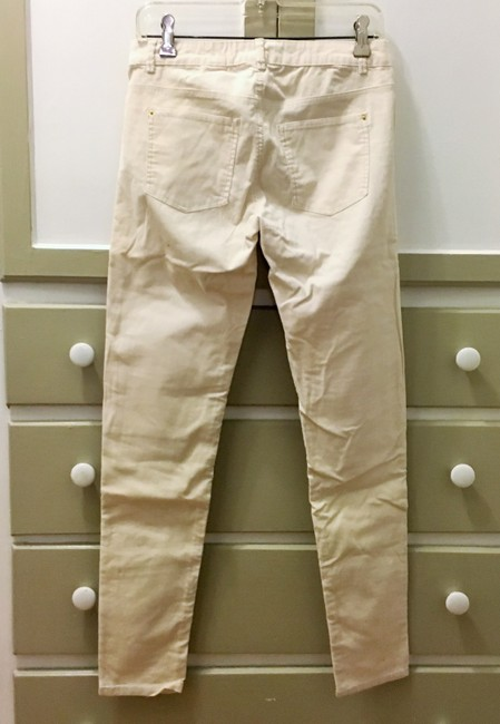 H&M Corduroy Stretchy Skinny Pants Cream Image 2