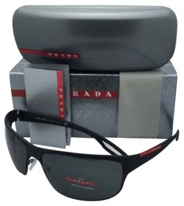 Prada New PRADA Sport Sunglasses SPS 50Q DG0-1A1 64-18 Black Rubber Frame w/ Grey Lenses