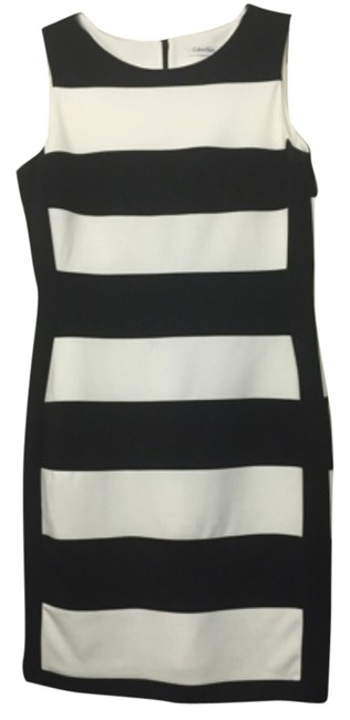 Preload https://img-static.tradesy.com/item/10833619/calvin-klein-black-and-white-striped-sheath-above-knee-workoffice-dress-size-10-m-0-1-650-650.jpg