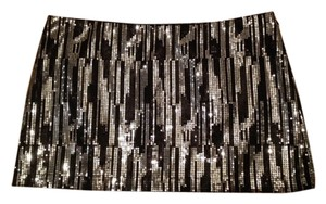Zoi Mini Skirt Black & silver sequence