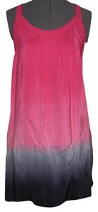 Lucky Brand short dress Dark Pink, Gray, Black 100% Silk on Tradesy