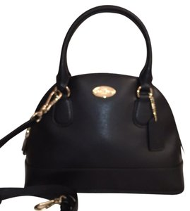 Coach Leather New Nwt Cross Body Satchel in Black