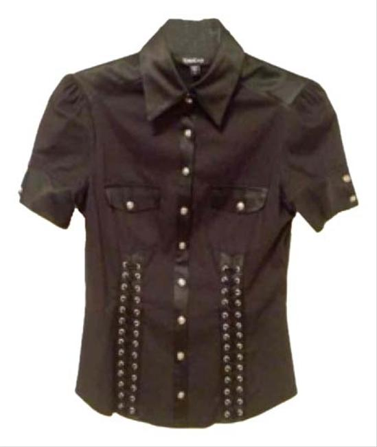 Preload https://img-static.tradesy.com/item/10834768/bebe-black-buttoned-shirt-small-button-down-top-size-6-s-0-1-650-650.jpg