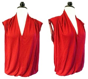 Lanvin Silk Top Red