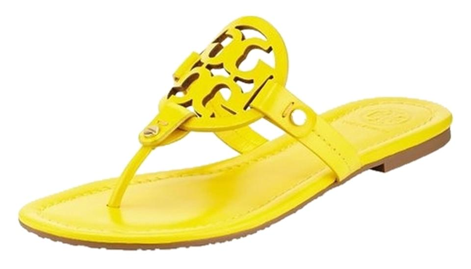 a94307da7 Tory Burch Yellow Miller Logo Sandals. Size  US 8 Regular (M ...