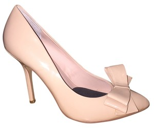 Betsey Johnson Patent Leather Nude Pumps