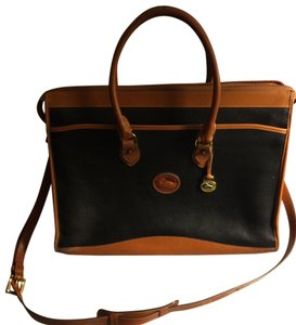 Dooney & Bourke Collectible Vintage Classic Black and Tan Messenger Bag