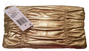 Michael Kors Gold Leather Leather Dress Gold Leather Pale Gold Clutch