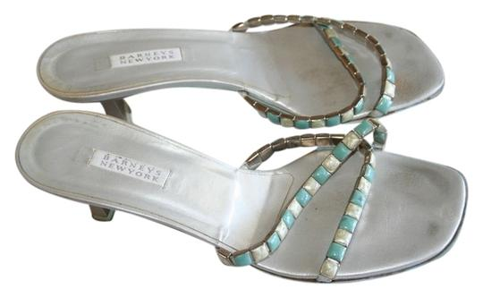 Barneys New York silver/blue Sandals