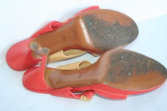 The Saddler orange/beige Sandals