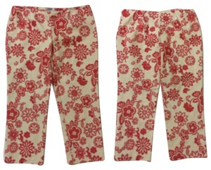Moschino Capris Red And Cream