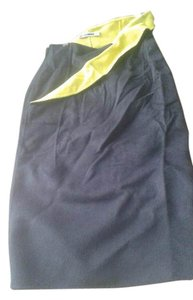 Jil Sander Skirt black with neon yellow
