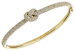 Michael Kors Michael Kors MKJ4191 710 Crystal Knot Gold Bangle Bracelet NEW! $165