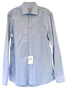Burberry London Men's Button Down Shirt blue
