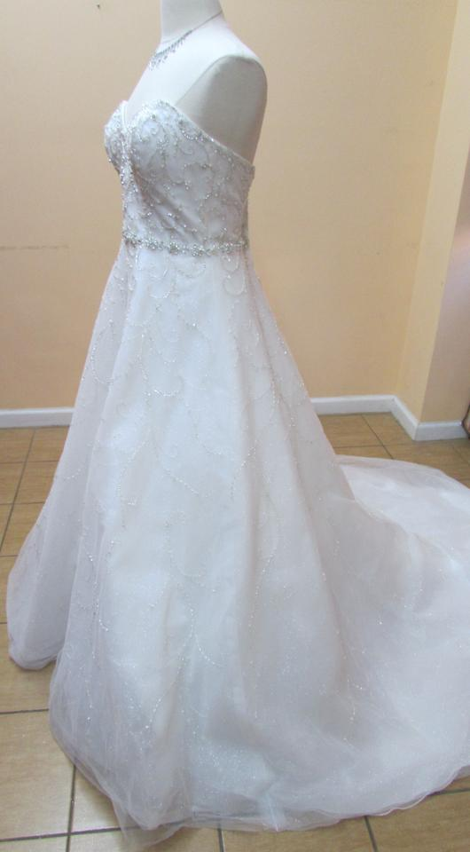 Alfred Angelo Ivory / Silver Tulle 262 Modern Wedding Dress Size 10 ...