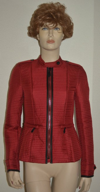 Burberry Women's Red Jacket Image 1