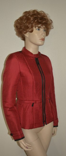 Burberry Women's Red Jacket Image 3