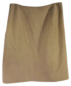 Casual Corner Suede Soft Skirt Light tan