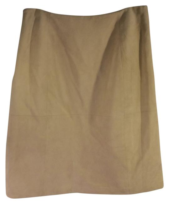 Casual Corner Suede Soft Skirt Light tan Image 0