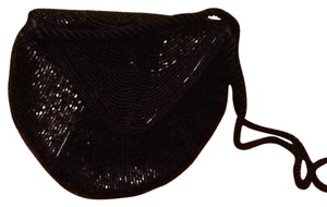 Other Beads Party Crossbody Black Clutch