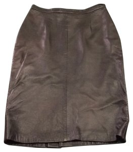 Michael Hoban Vintage Skirt Black Leather
