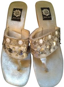 Yellow Box Silver Sandals