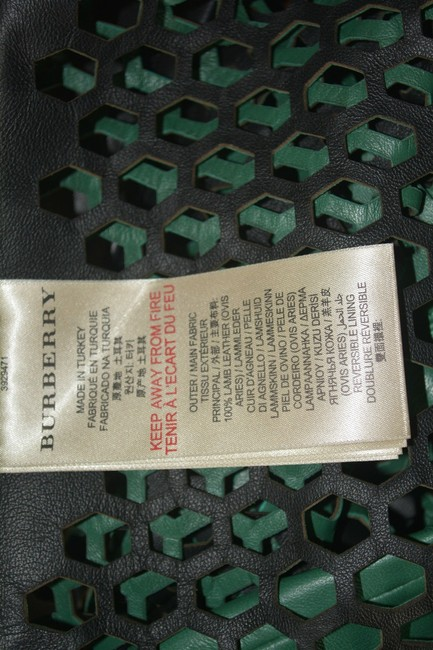 Burberry Military Lambskin Green Leather Jacket Image 8
