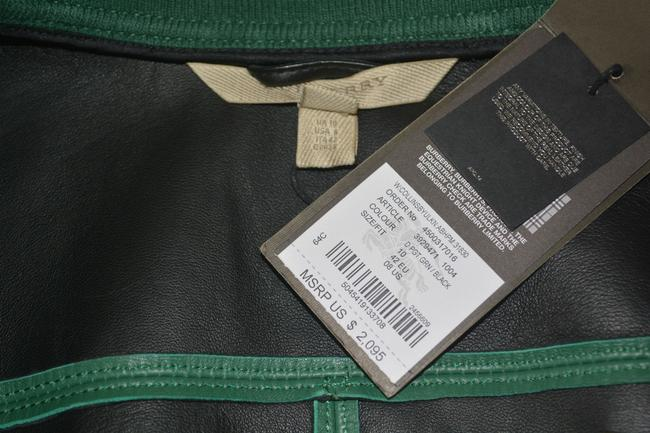 Burberry Military Lambskin Green Leather Jacket Image 9