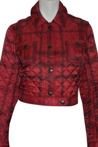 Burberry Women's Quilted Check Alizarin Crimson Jacket