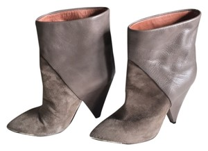 IRO Gray leather and suede Boots