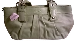 Coach Leather Upscale New Satchel in Sage Green