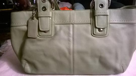 Coach Leather Upscale New Satchel in Sage Green Image 1