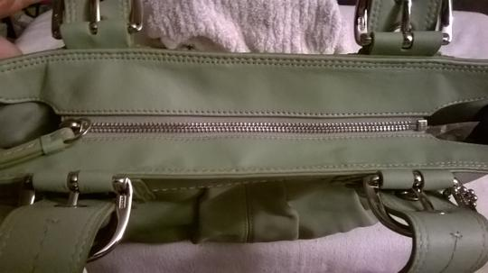 Coach Leather Upscale New Satchel in Sage Green Image 4