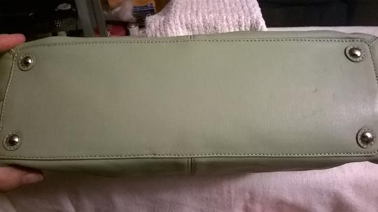 Coach Leather Upscale New Satchel in Sage Green Image 7