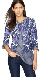 J.Crew Navy and Ecru Fanfare Print Jacket