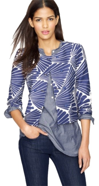 Preload https://img-static.tradesy.com/item/10838815/jcrew-navy-and-ecru-fanfare-print-64544-jacket-size-10-m-0-1-650-650.jpg