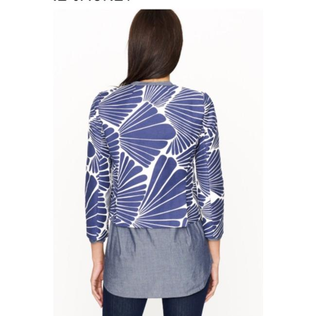 J.Crew Navy and Ecru Fanfare Print Jacket Image 1