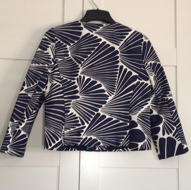 J.Crew Navy and Ecru Fanfare Print Jacket Image 3