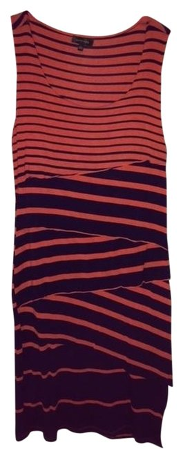 Spense short dress Navy and Coral Pullover Stripe on Tradesy