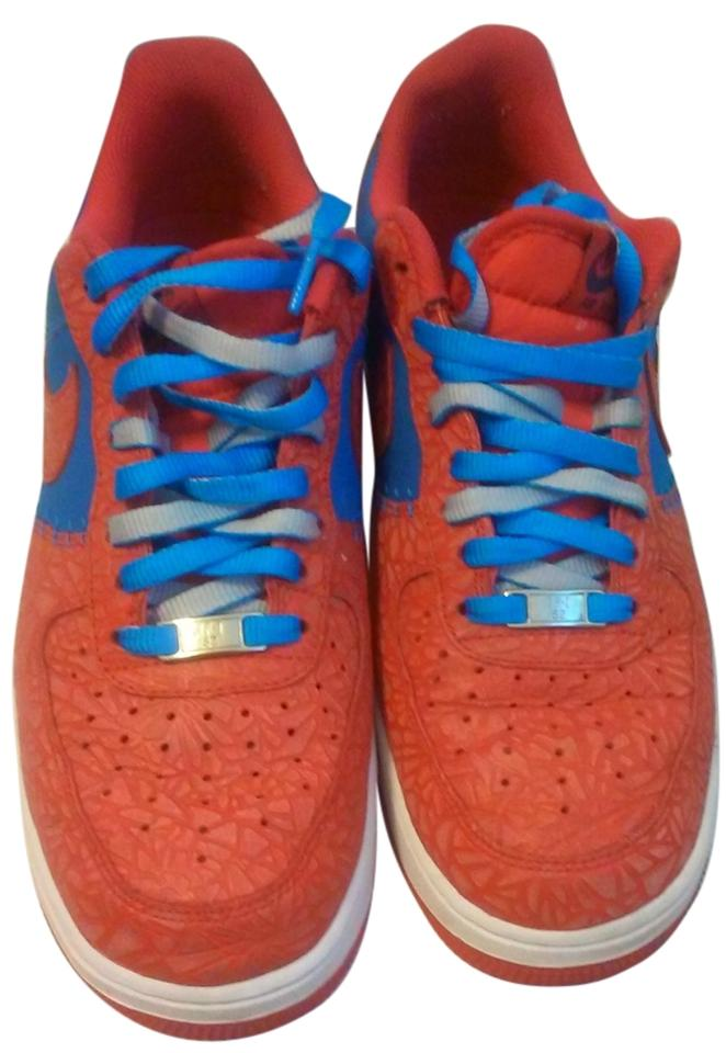 la meilleure attitude dcb3f a1777 Nike Red/White/Blue Air Force 1 Godzilla Sneakers Size US 9.5 Regular (M, B)