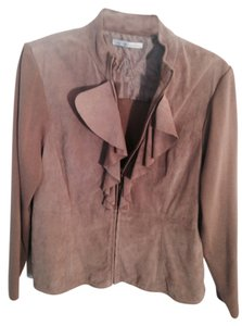 Peter Nygard Beige Suede Leather Jacket