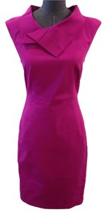 Rachel Roy Sheath Back Zip Cap Sleeves Cotton Body Con Exposed Zip Knee Length Size 2 Dress