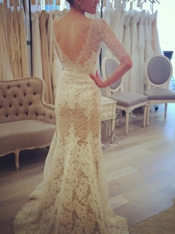 Watters Ivory/Amaretto Chantilly Lace Kerry Gown Style 4096b Wedding ...