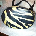 Dooney & Bourke Leather Zebra Print Bucket J7263338 Tote in White, Black Image 2