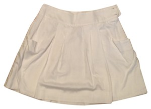 Lacoste Cotton Mini Casual Skirt White